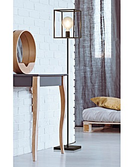 Black Cage Floor Lamp
