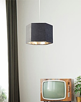Grey Velvet Hexagon Shade