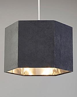 Grey Velvet Hexagon Shade