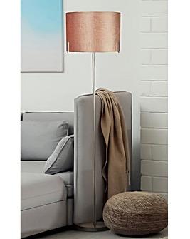 Harley Blush Velvet Floor Lamp