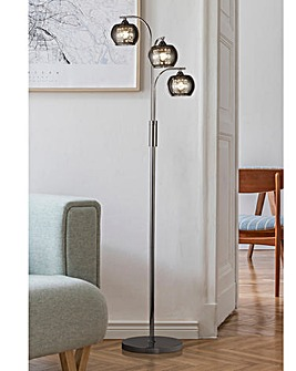Smoked Glass Floor Lamp