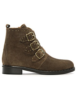 Daniel Nibble Leather Studded Biker Boot