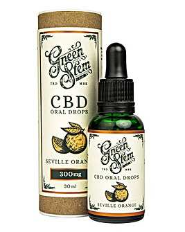 Green Stem 300mg CBD Oil Drops - Orange
