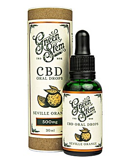 Green Stem 500mg CBD Oil Drops - Orange