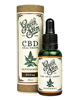 Green Stem Peppermint Flavoured CBD Oil Oral Drops - 500mg