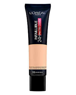 L'Oreal Infallible 24hr Matte Cover Foundation SPF 18 - 115 Golden Beige