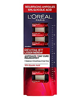 L'Oreal Paris Revitalift Laser Ampoules 10% Glycolic Acid Peel 7x1ml
