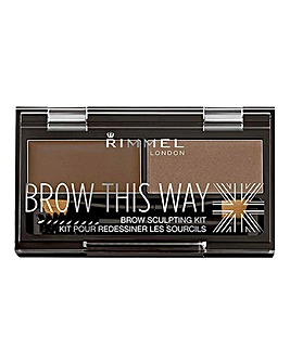 Rimmel Brow This Way Eyebrow Sculpting Kit - Mid Brown