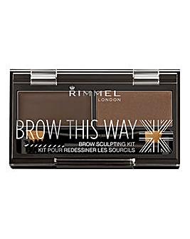 Rimmel Brow This Way Eyebrow Sculpting Kit - Dark Brown