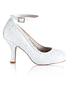Perfect Dixie Lace Court Ankle Strap