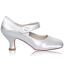 Perfect Esta Wide Fit Satin Bar Shoe