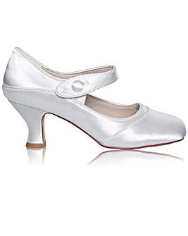 Perfect Esta Wide Fit Satin Bar Shoe