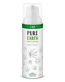 Pure Earth CBD Vanilla and Coconut Body Lotion