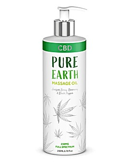 Pure Earth CBD Juniper Berry Massage Oil