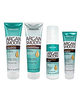 Creightons Argan Smooth 4 Piece Hair Care Set