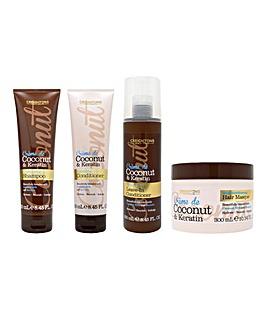 Creightons Creme de Coconut and Keratin 4 Piece Hair Care Set