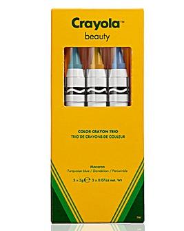 Crayola Crayon Trio Macaron - Turquoise Blue, Dandelion, Periwinkle