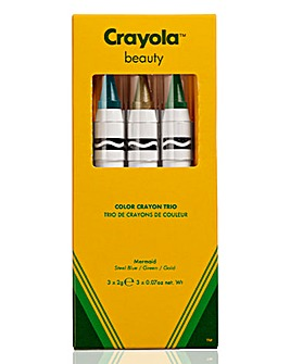 Crayola Crayon Trio Mermaid - Steel blue, Gold, Green