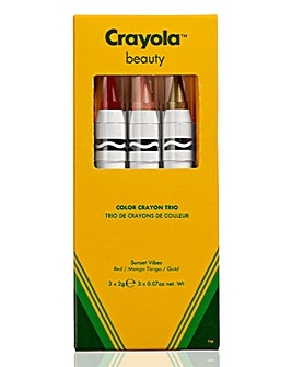 Crayola Crayon Trio Sunset Vibes - Red, Mango Tango, Gold