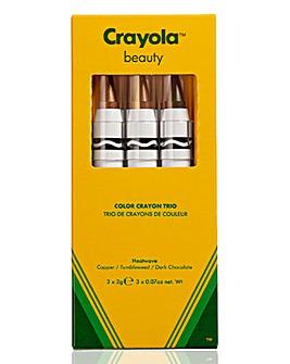 Crayola Crayon Trio Heatwave - Cooper, Dark Chocolate, Tumbleweed