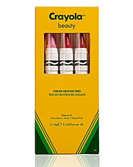 Crayola Crayon Trio Mauve It! - Mauvelous, Rose, Velvet Pink