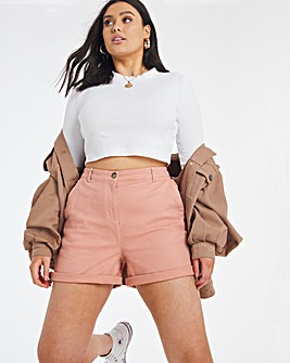 Blush Cotton Rich Stretch Chino Shorts
