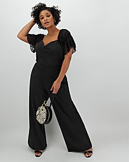 Wide Leg Scuba Trousers Regular