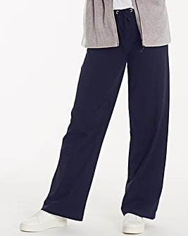 Cotton Rich Wide Leg Loose Fit Pant 29in