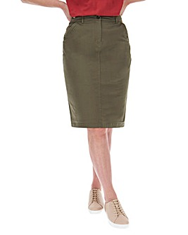 Cotton Rich Stretch Chino Skirt