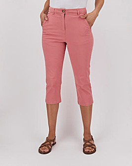 Cotton Rich Crop Chino Trousers