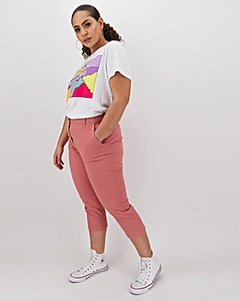 Cotton Rich Stretch Crop Chino Trousers