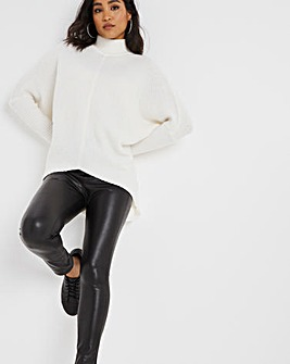High Waist Faux Leather PU Leggings