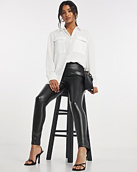 High Waist Faux Leather PU Leggings