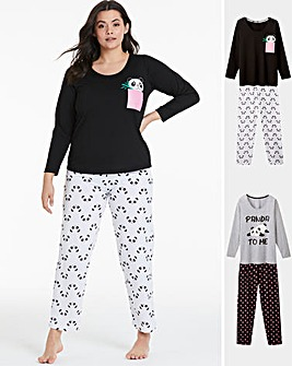 Pretty Secrets 2Pk Long Sleeve PJ Set