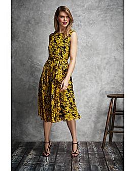Gina Bacconi Magda Chiffon Print Dress