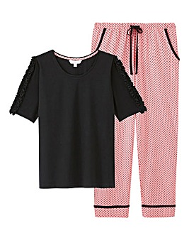 Pretty Secrets 3/4 Frill Sleeve PJ Set