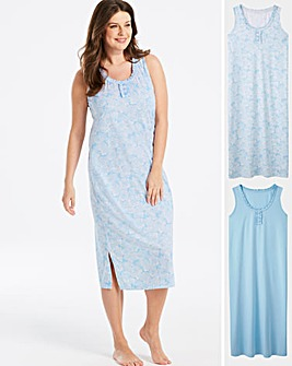 Pretty Secrets 2pk Maxi Chemises 48in dfd566a1d