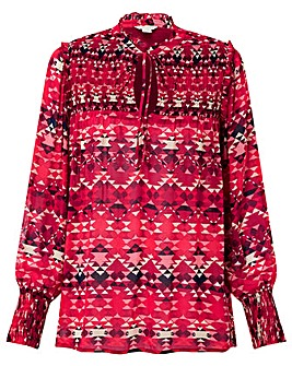 Monsoon Ali Print Longline Blouse