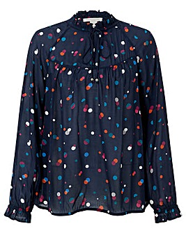 Monsoon Stevie Spot Print Blouse
