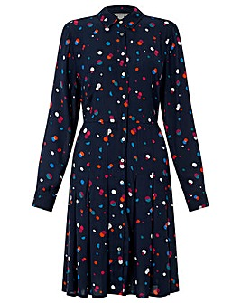 Monsoon Stevie Spot Print Shirt Dress
