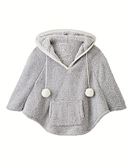 AX Paris Hooded Fleece Poncho