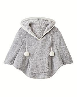 AX Paris Hooded Fleece Poncho
