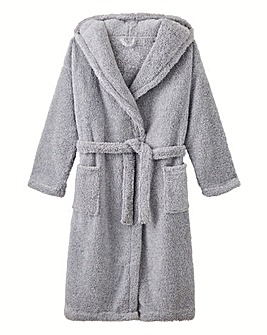 AX Paris Long Hooded Fleece Gown