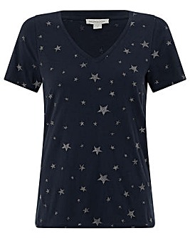 Monsoon Silvia Star Embroidered T-Shirt