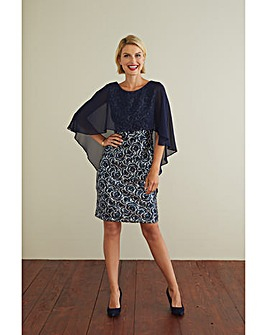 Gina Bacconi Sharona Dress With Cape