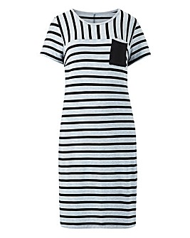 Stripe Jersey Tunic Dress