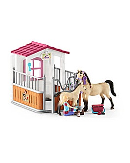 SCHLEICH Horse Club Stall Horses & Groom