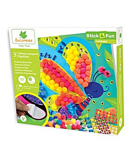 SYCOMORE Stick & Fun Pompoms Butterfly