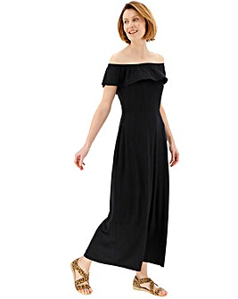 Black Bardot Maxi Dress