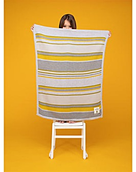 Cosatto Knitted Stripe Blanket Grey & Yellow